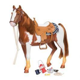 Duży koń z akcesoriami Our Generation - srokaty