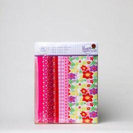 Zestaw 8 materiałów do szycia - pink