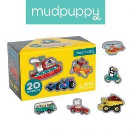 Tekturowe magnesy Mudpuppy - środki transportu (20 elem.)
