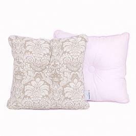 Poduszka dekoracyjna 30x30 - ornament - beżowo-różowy