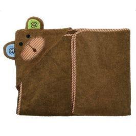 Ręcznik mały z kapturkiem - małpka