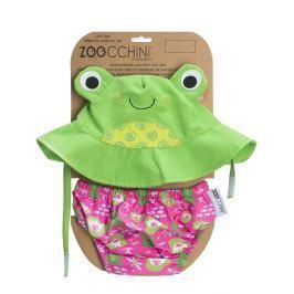 Zestaw plażowy: pieluszka i kapelusz (UPF 50+) - żabka S