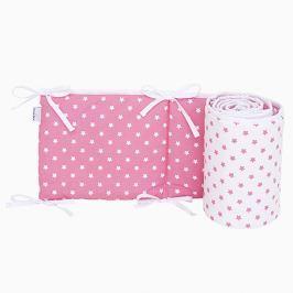 Ochraniacz do łóżeczka 60x120 - gwiazdki - różowo-białe