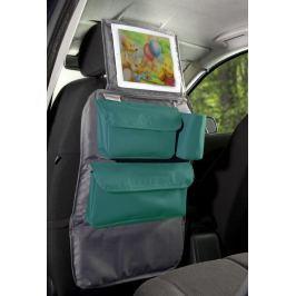 Organizer podrożnika do samochodu i uchwyt na tablet 2 w 1 - szary z turkusowym