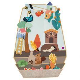 Zabawka do zamocowania na ścianie VertiPlay Oribel - zaczarowany ogród