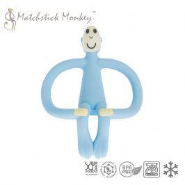 Gryzak do masowania dziąseł - Matchstick Monkey - błękitny