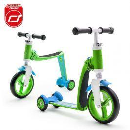 Highwaybaby PLUS hulajnoga trójkołowa  i rowerek biegowy 2w1 dla dzieci 1+ - zielony
