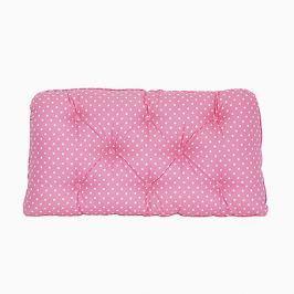 Poduszka-wezgłowie duża - gwiazdki - różowo-białe