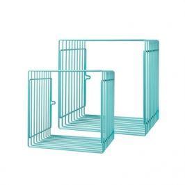 Zestaw metalowych półek (mniejsze) - niebieskie