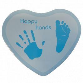 Pamiątkowy odcisk Happy Hand - heart blue