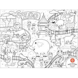 Mata do kolorowania, wielokrotnego użytku - zoo