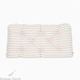 Poduszka-wezgłowie duża - zygzaki - beżowo-białe