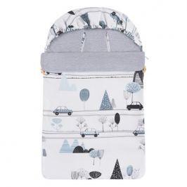 Śpiwór bawełniany wiosenno-letni Samiboo Mini z regulowaną grubością - samochody z szarym