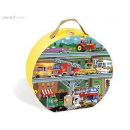 Puzzle w walizce 100 elementów Janod - pojazdy