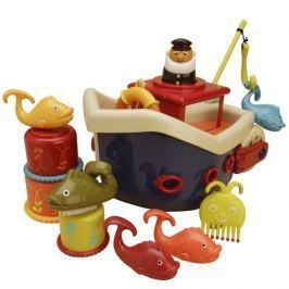 Zestaw do kąpieli - statek z mnóstwem zabawek - Fish&Splish