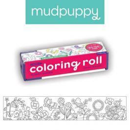 Mała kolorowanka na rolce + 4 kredki Mudpuppy - ogród