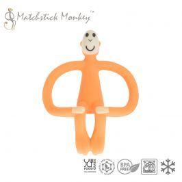 Gryzak do masowania dziąseł - Matchstick Monkey - pomarańczowy