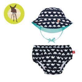 Zestaw plażowy majtki z pieluszką+kapelusz Splash&Fun (UV 50+) - Viking (12mc)