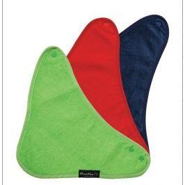 Śliniak bandana 3 szt - granat/ziel/czerwony