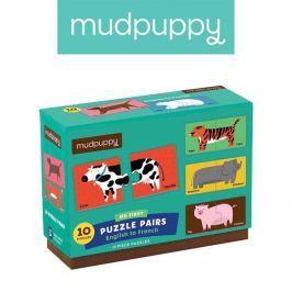 Połącz w pary Mudpuppy - nauka języków ze zwierzątkami - angielski/francuski