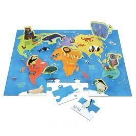 Puzzle z figurkami Mudpuppy - zwierzęta świata (36 elem.)
