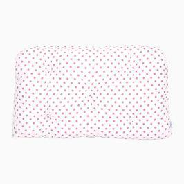 Poduszka-wezgłowie mała - gwiazdki - biało-różowe