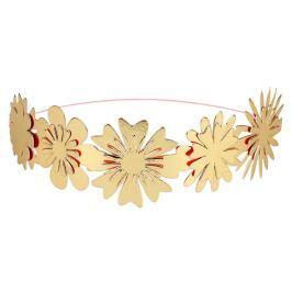 Korona opaska 8 szt Meri Meri - kwiaty złote