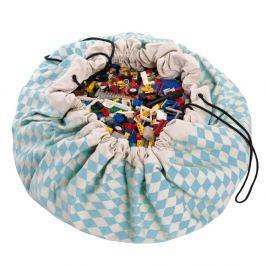 Worek na zabawki Play&Go -niebieskie romby