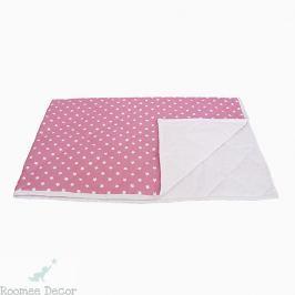 Narzuta mała - gwiazdki - różowo-białe