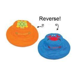 Dwustronny kapelusz FlapJack - M - krab / żółwik