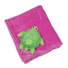 Kocyk Zoocchini - różowy - żółwik