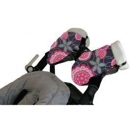 Mufka-rękawice do wózka Tris&Ton - floral rosa