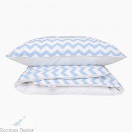 Pościel niemowlęca - zygzaki - niebieskie