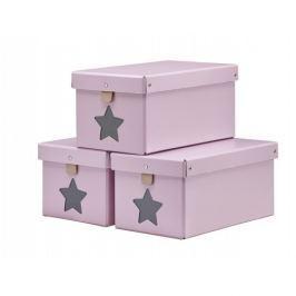 Pudełka  3 szt. Kids Concept - różowe