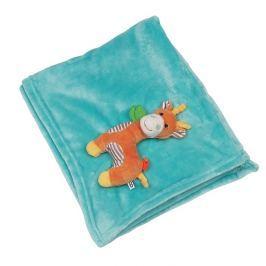 Kocyk Zoocchini - błękitny - żyrafa