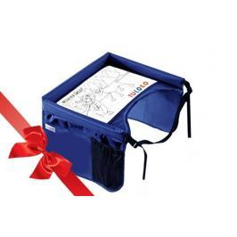 Bezpieczny stolik podróżnika + świąteczna kolorowanka - niebieski