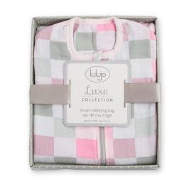 Muślinowy śpiworek Lulujo Luxe - pink