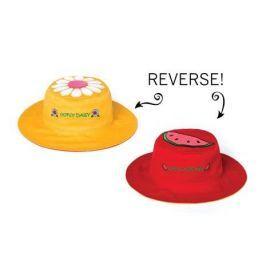 Dwustronny kapelusz FlapJack - S - stokrotka / arbuz