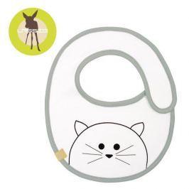 Śliniak bawełniany wodoodporny Lassig Little Chums - kot