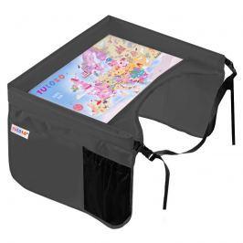 Bezpieczny stolik podróżnika + edukacyjna mapa świata - szary