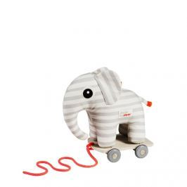 Przytulanka i zabawka do ciągnięcia 2w1 - słoń