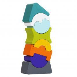 Drewniana balansująca wieża Cubika