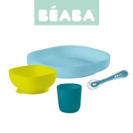 Zestaw silikonowych naczyń Beaba - blue