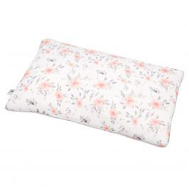 Bambusowa poduszka dla niemowląt Samiboo (40x60) - In Bloom+lamówka różowa