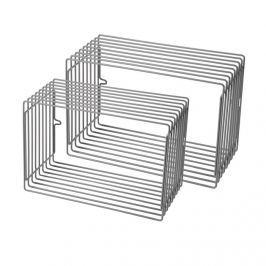 Zestaw metalowych półek (większe) - szare