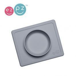 Silikonowa miseczka z podkładką EZPZ 2w1 MIni Bowl - szara