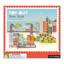 Puzzle Przestrzenne Petit Collage  - Nowy Jork (4+)