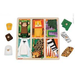 Puzzle sensoryczne Janod - zoo