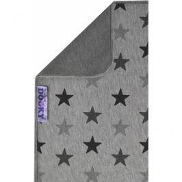 Dwustronny kocyk Dooky - grey stars