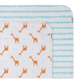 Zestaw kocyków - otulaczy flanelowych Zoocchini (102x102) - żyrafy
